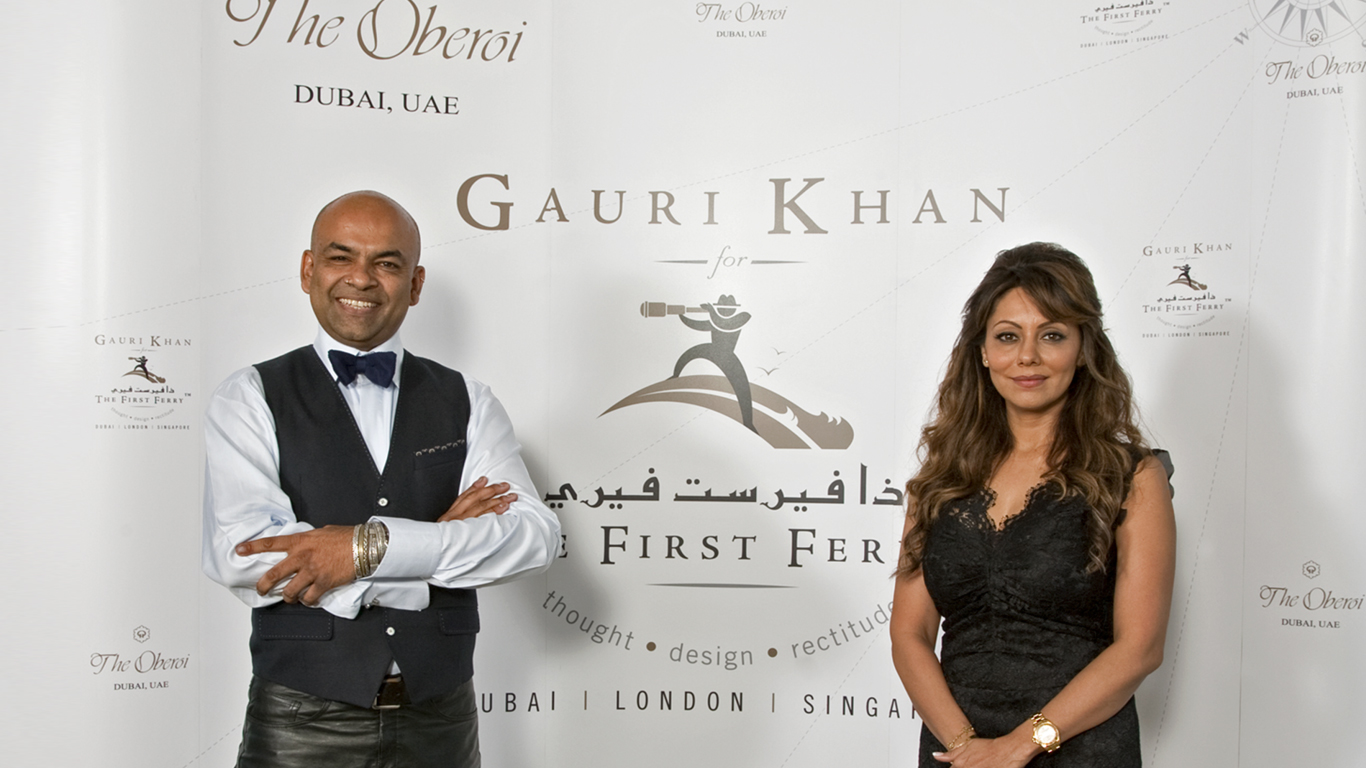 GAURI KHAN FOR THE FIRST FERRY