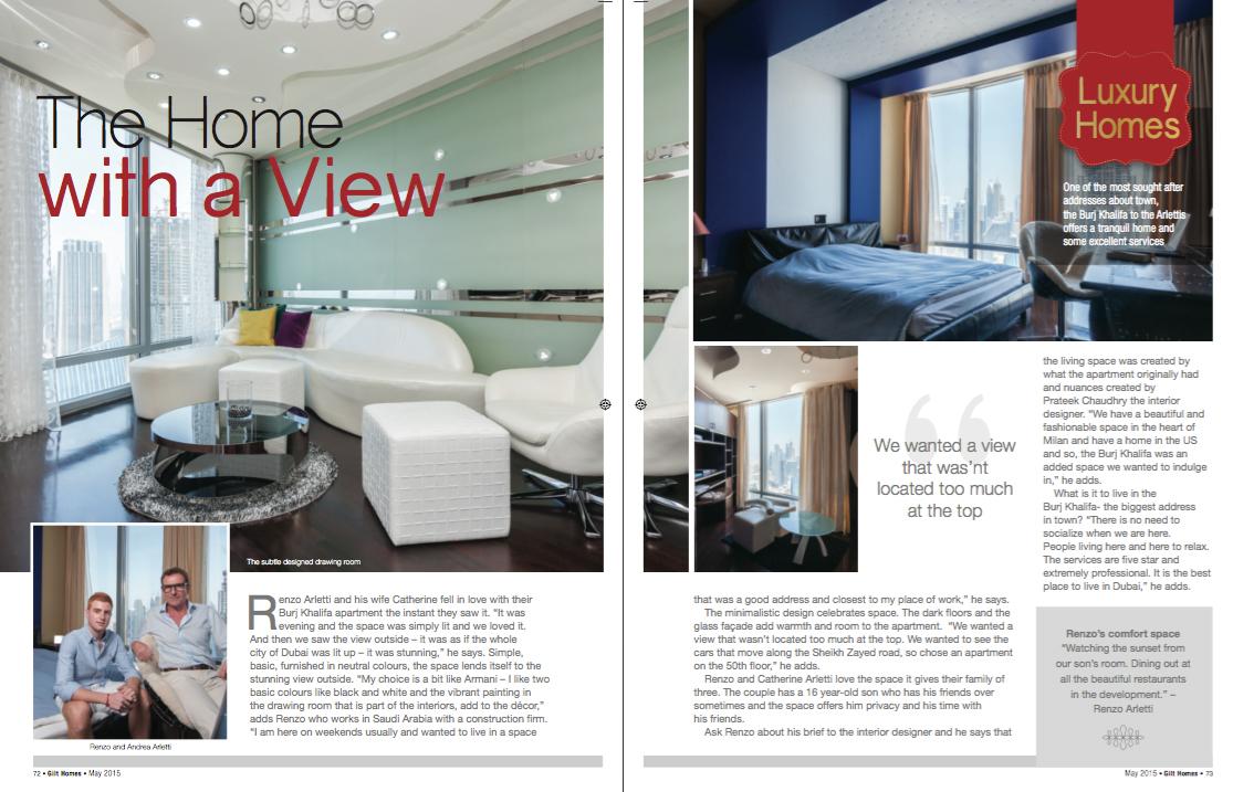 Interior Design Magazine Dubai. The Generous White Linen Sofa From ...